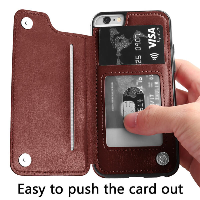 Luxury Leather Wallet Cellphone Case