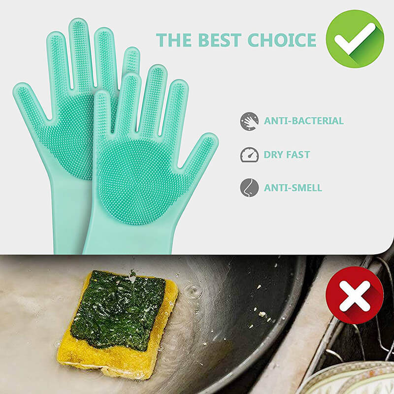Magic Dishwashing Gloves with scrubber