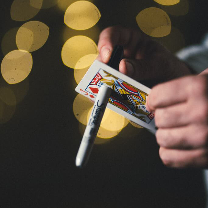 Magic Playing Card Tricks Pen Set