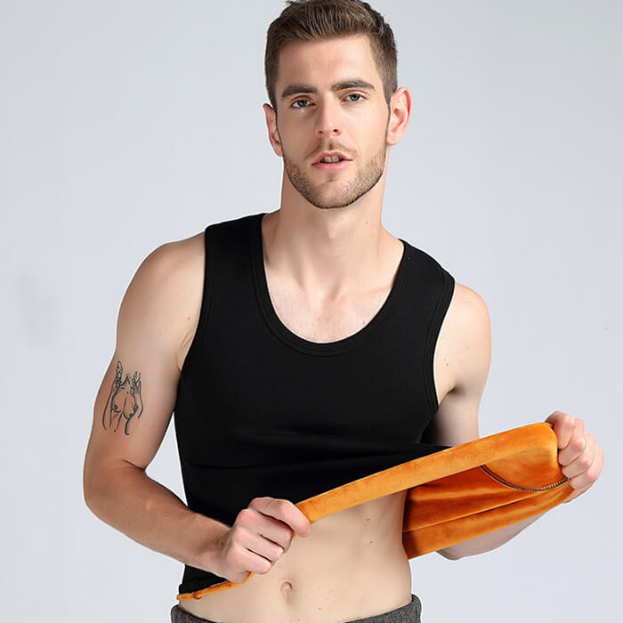 Men's Plus Fleece Thermal Underwear Vest