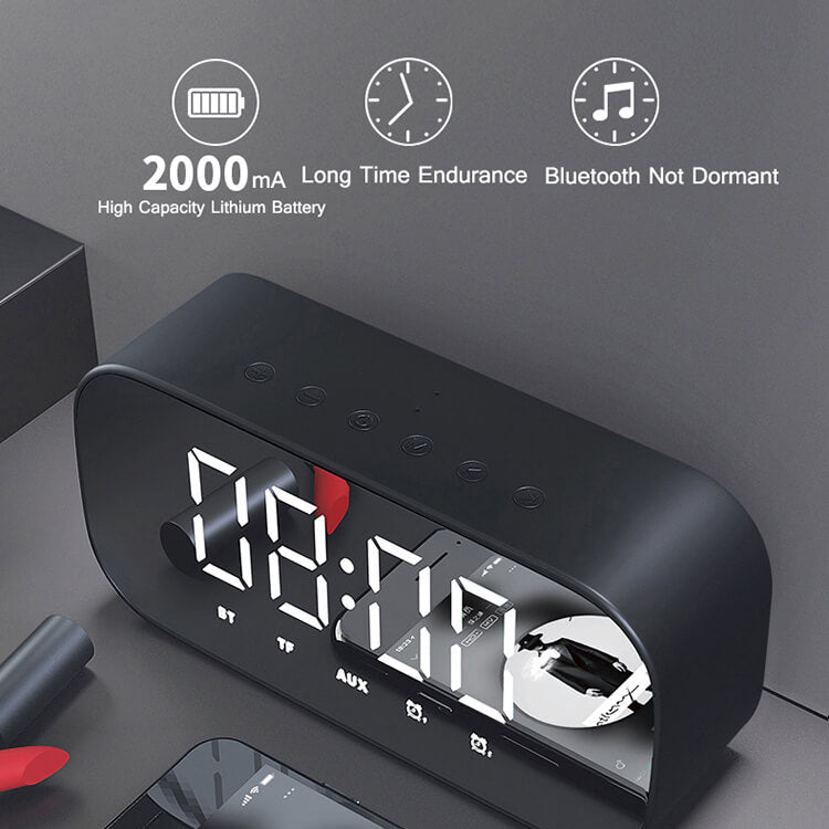 Mirror Alarm Clock Bluetooth Speaker