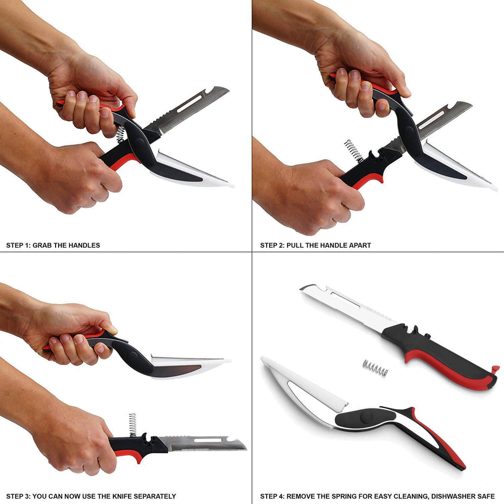 Multi-function Kitchen Scissors with Cutting Board