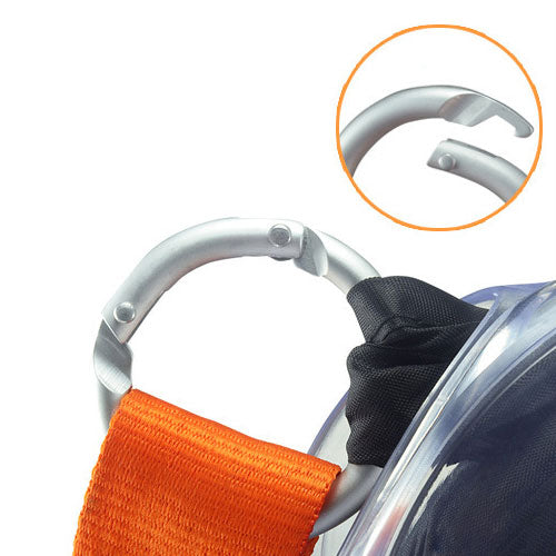 Set of 2 Portable Shopping Tote Bags with Carabiner