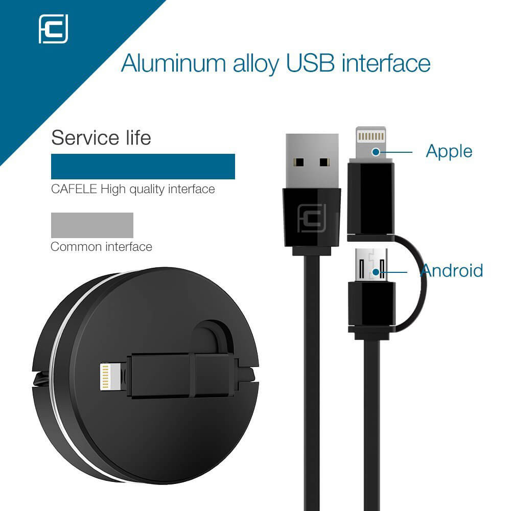 Protable Retractable Charging Data Cable