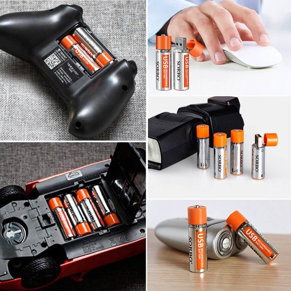 Rechargeable Batteries by USB Port