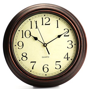Retro 12-Inch Non Ticking Quartz Clock