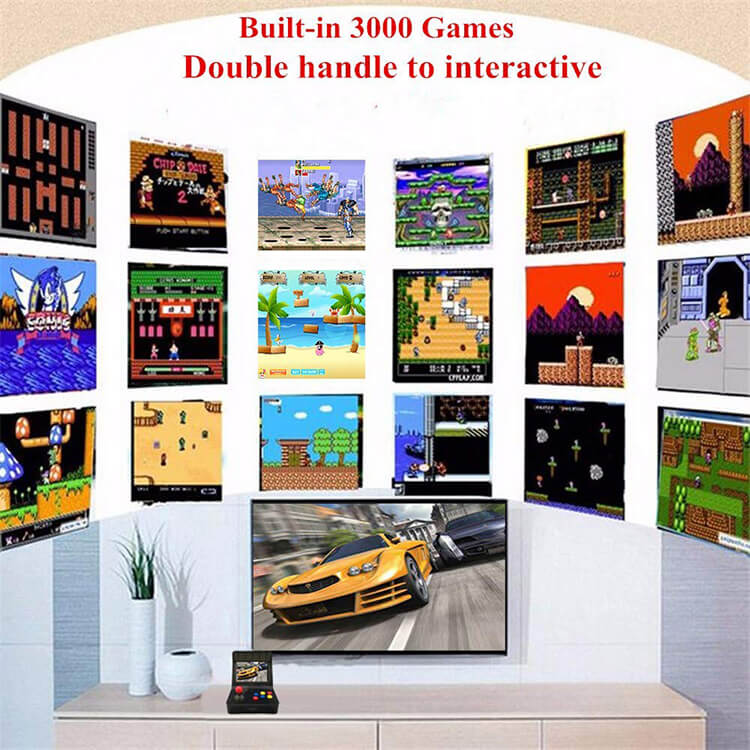Retro Mini Arcade Console with Build-in 3000+ Games