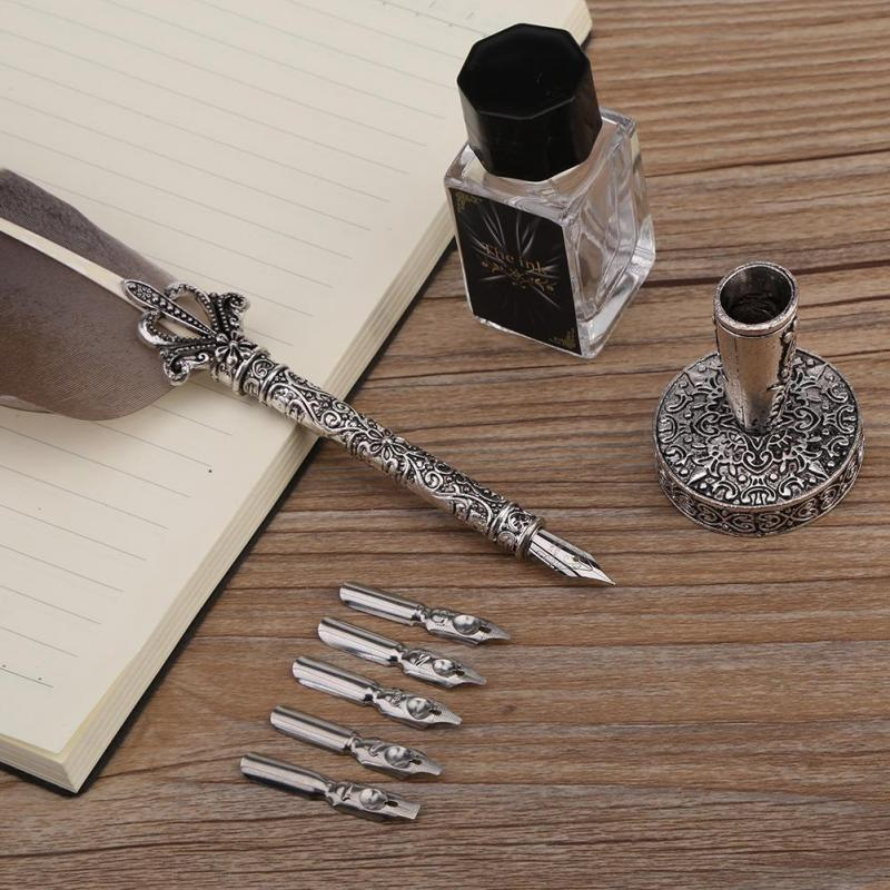 Retro Quill Feather Pen