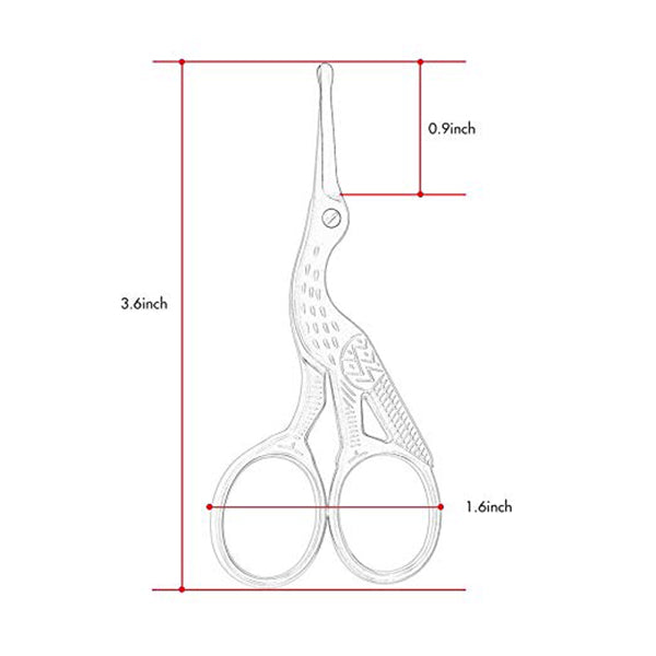 Round Ends Nose Hair Scissor