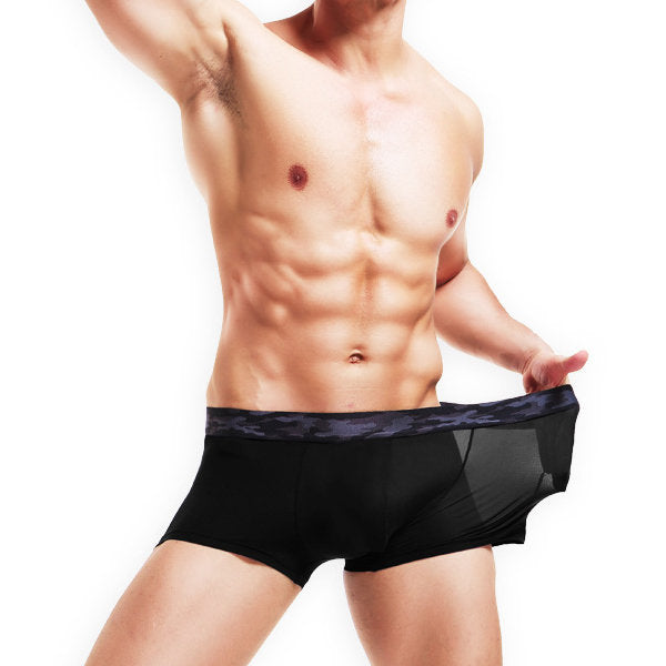 Super Soft Mens Breathable Ice Silk Briefs