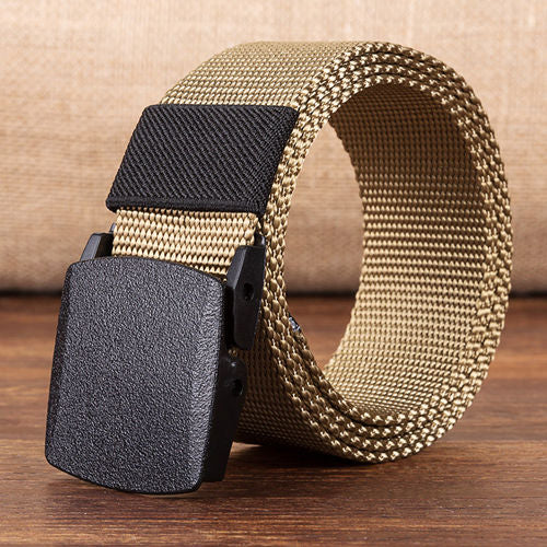 Unisex Military Canvas Nylon Belt