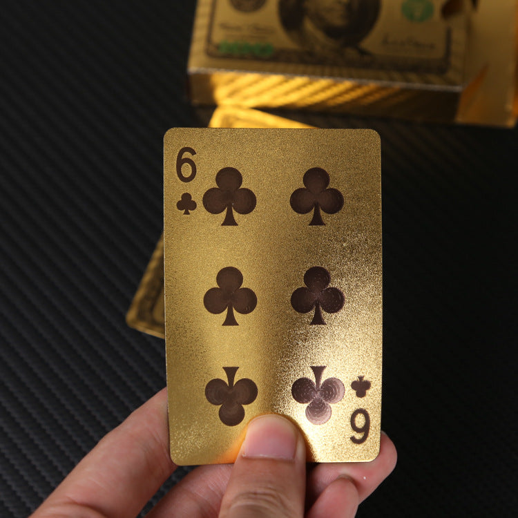 Waterproof Gold Poker Playing Card
