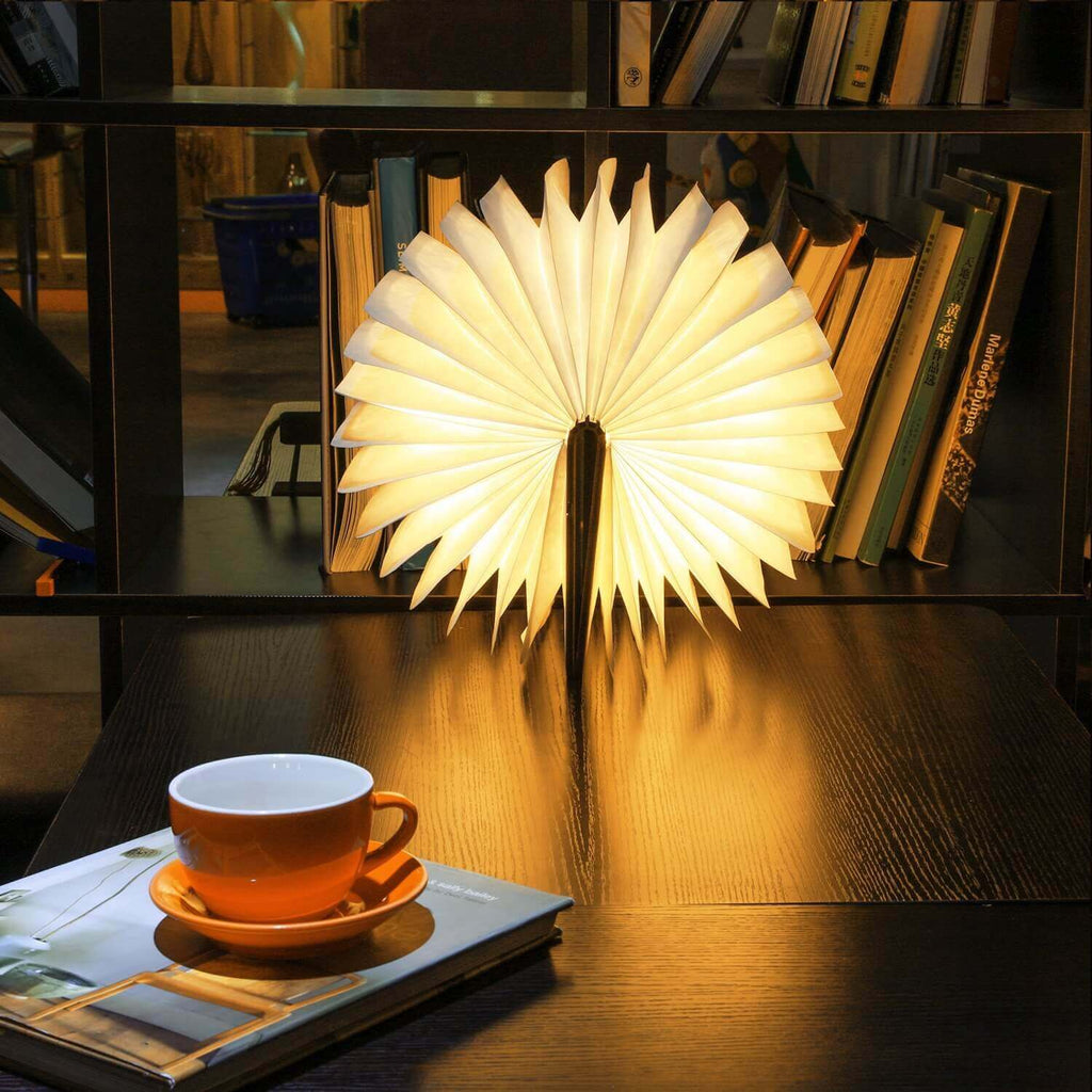 Wooden Foldable Book Shape Light