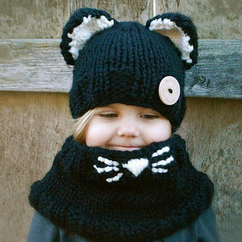 Wool Cat Soft Warm Hats