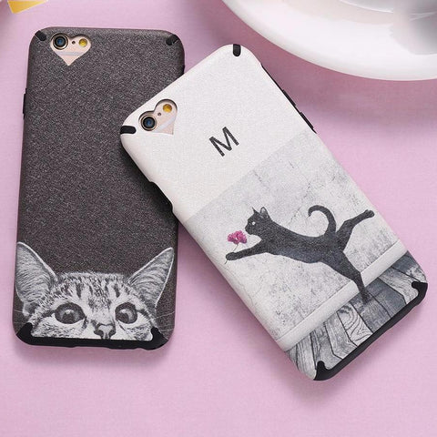 Lovely Cat Strip Phone Cover