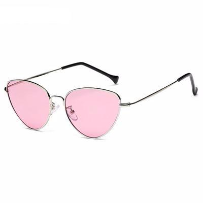 Luxe Red Cat Eye Female Sunglasses