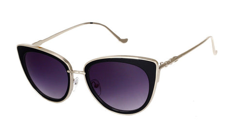 Cat Eye Metal Frame Sunglasses