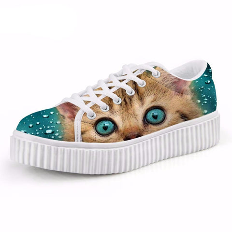 Cat Creepers Female Lace-up Shoes