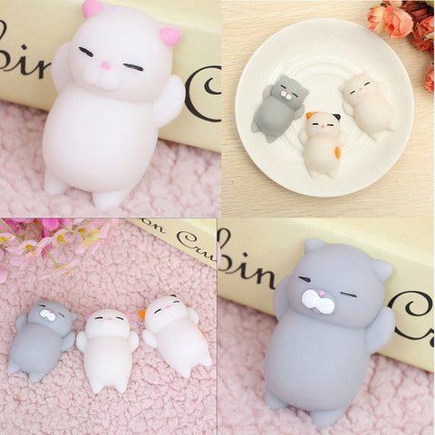 Mini Soft Cat Silicone Squishy Toy