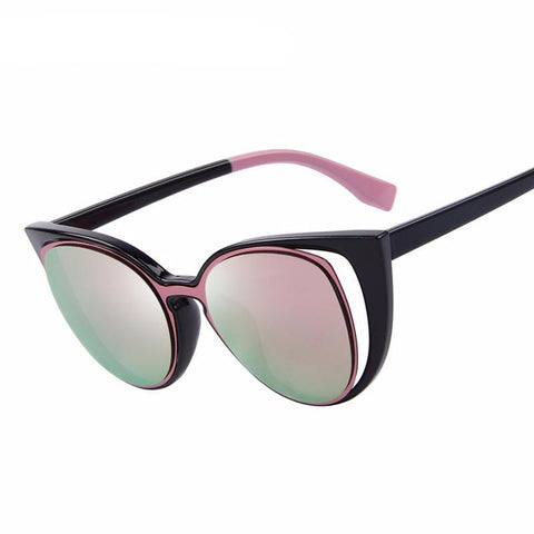 Retro Pierced Cat Sun Glasses