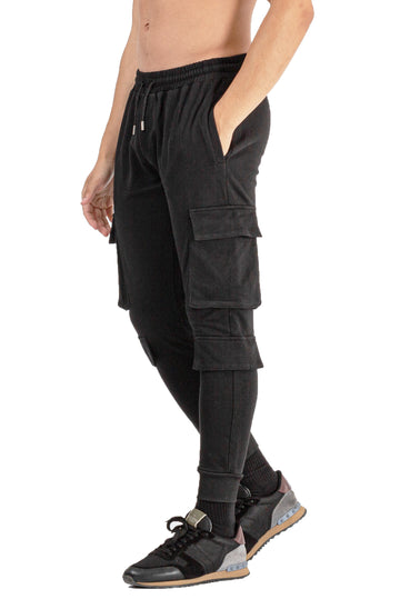 MENS BLACK BREATHABLE JOGGER - GINGTTO