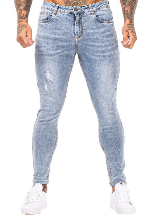 Light Blue Stretch Skinny Jeans Mens