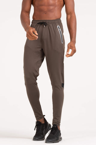 MENS BROWN WORK OUT SPLICING PANTS