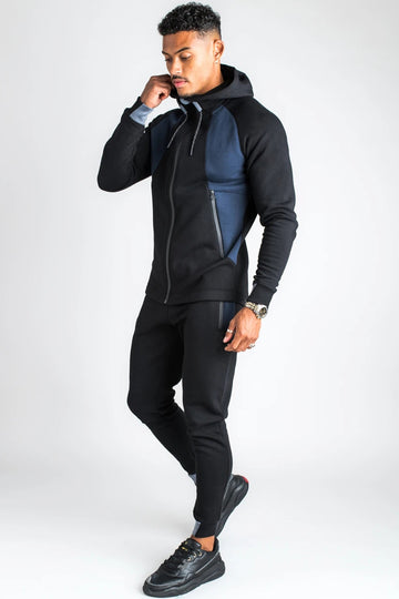 Men's Tracksuit Black/ Blue-2 pieces