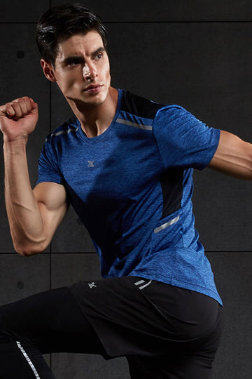 Mens Sports Suit Gym Fitness Clothes