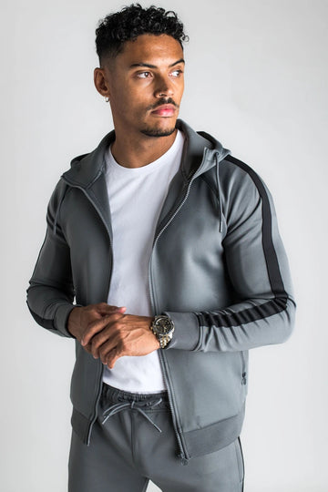 Men's Tracksuit Grey/ Black-2 Pieces