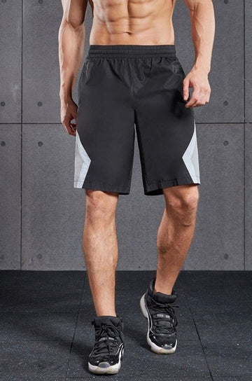 Black Woven Shorts Grey