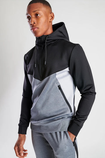 Men's Tracksuit Black/ White/ Grey-2 pieces