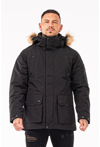 Mens Black Winter Coat - GINGTTO