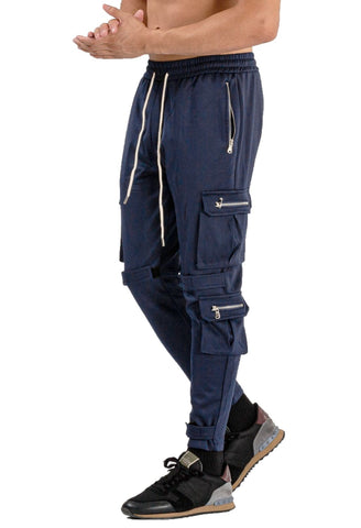 MENS BLUE BREATHABLE JOGGER - GINGTTO
