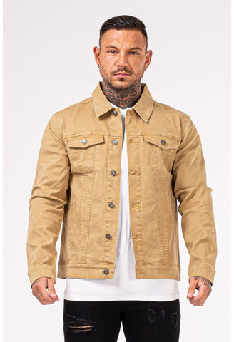 Mens yellow stylish Denim Jacket - GINGTTO