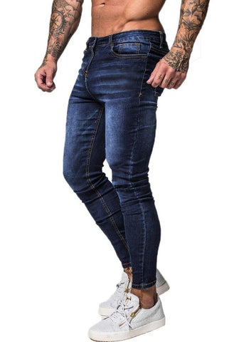 SUPER SKINNY FIT JEANS MEN BLUE - GINGTTO