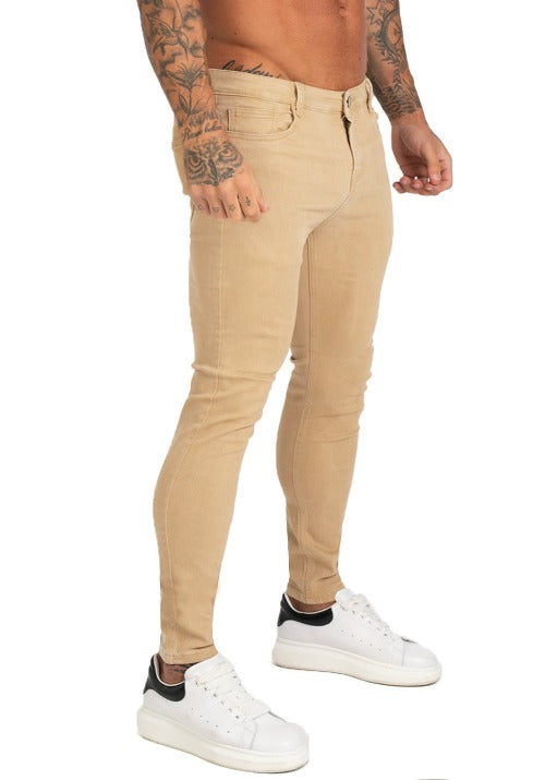 STRETCH SKINNY JEANS LIGHT YELLOW