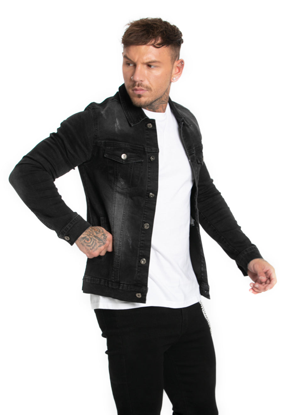 Black Shirts Denim Jacket