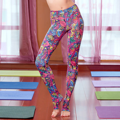 Black Yoga Pants are BORING! Express your happy nature with our Italian Printed Yoga Pants