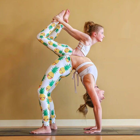 Encourage your little girl to love yoga like you do with these adorable Pineapple Print Yoga Pants