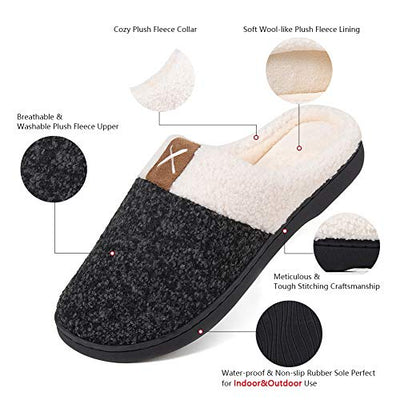 Ladies House Memory Foam Slippers for Women