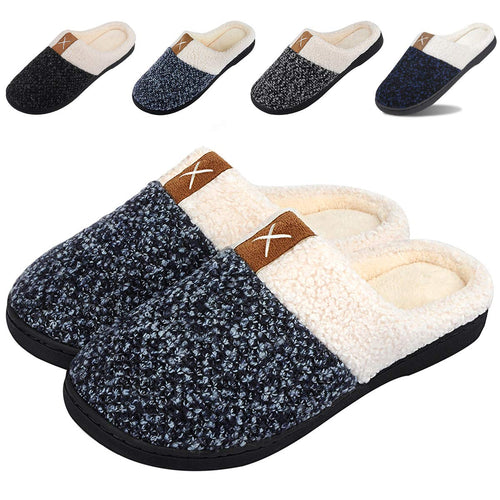 Winter House Slippers Womens Memory Foam Slippers