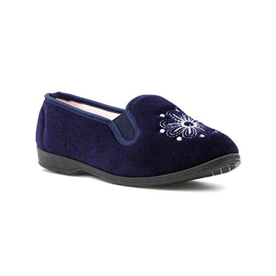 The Slipper Company Womens Full Slipper in Navy