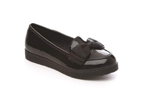 GladRags Girls Patent School Loafers