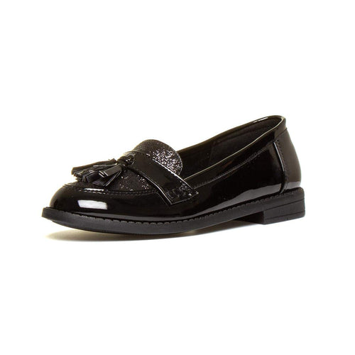 Lilley Girls Black Patent Loafer