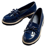 DecoStain Womens Patent Leather Flat Loafers