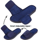 LongBay Men's Open Toe Adjustable Wrap Indoor Slippers