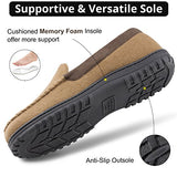 Men's Memory Foam Moccasin Bedroom Slippers