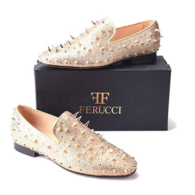 FERUCCI Gold Spikes Slippers