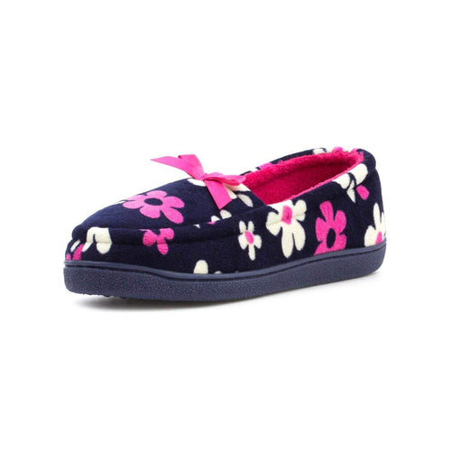 The Slipper Company Womens Navy Moccasin Slipper